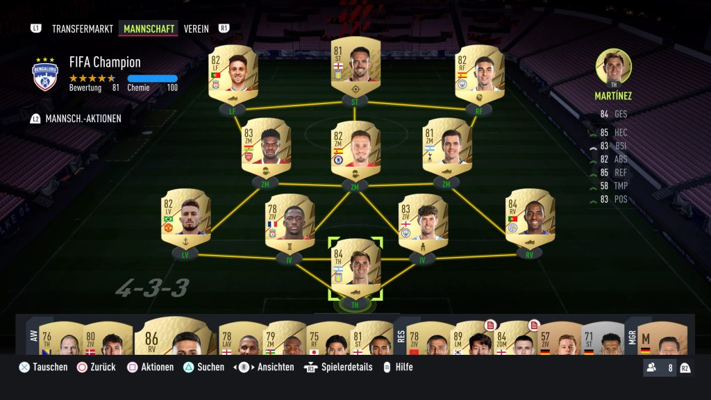 FUT Starter Squad in FIFA 22